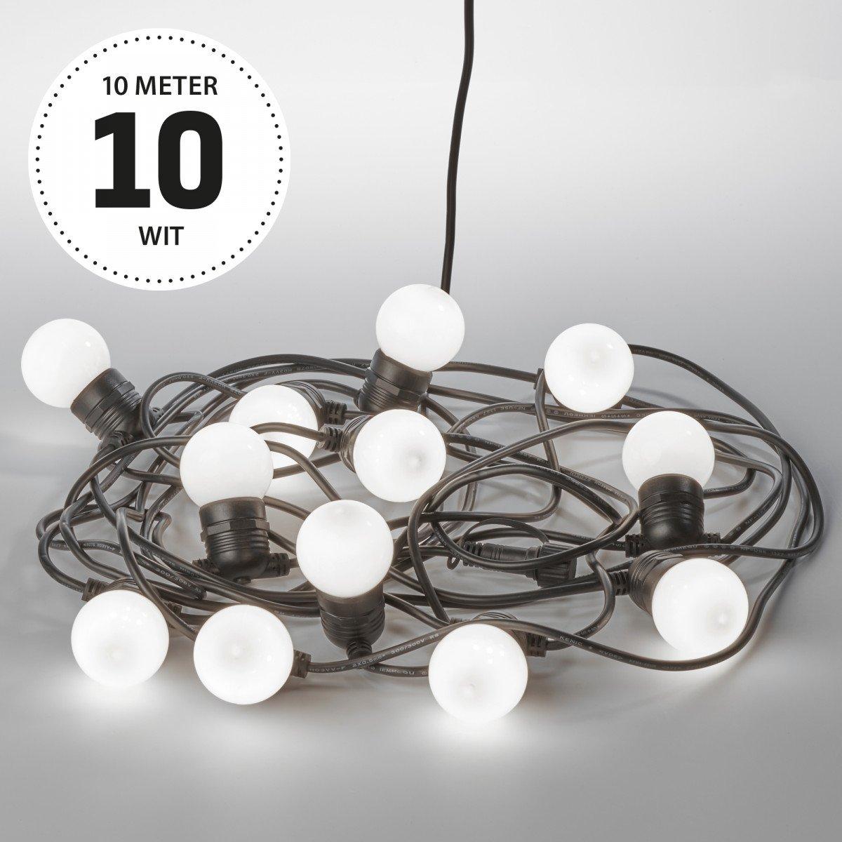 Lichtsnoer LED Party opaal 10 meter / 15 Bolletjes