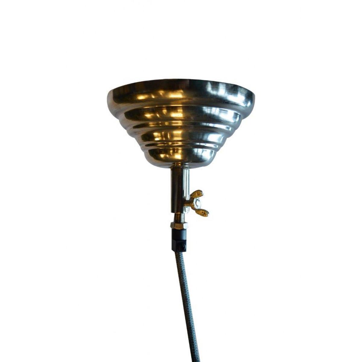 Hanglamp Chester Grijs leer