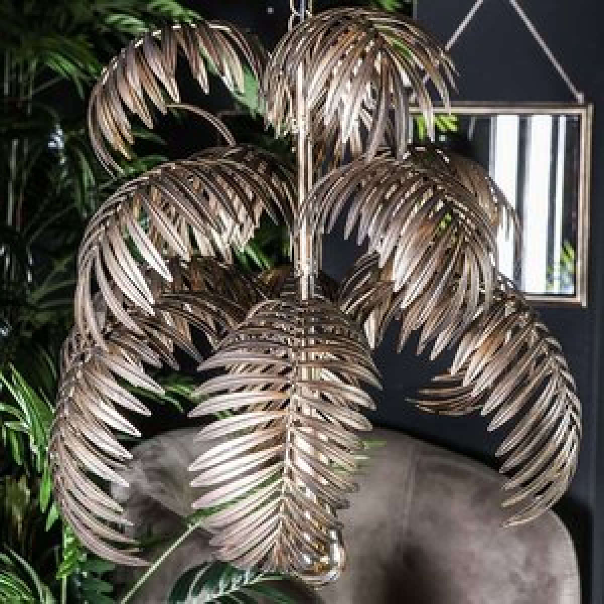 PTMD Salencia gold hanglamp palm