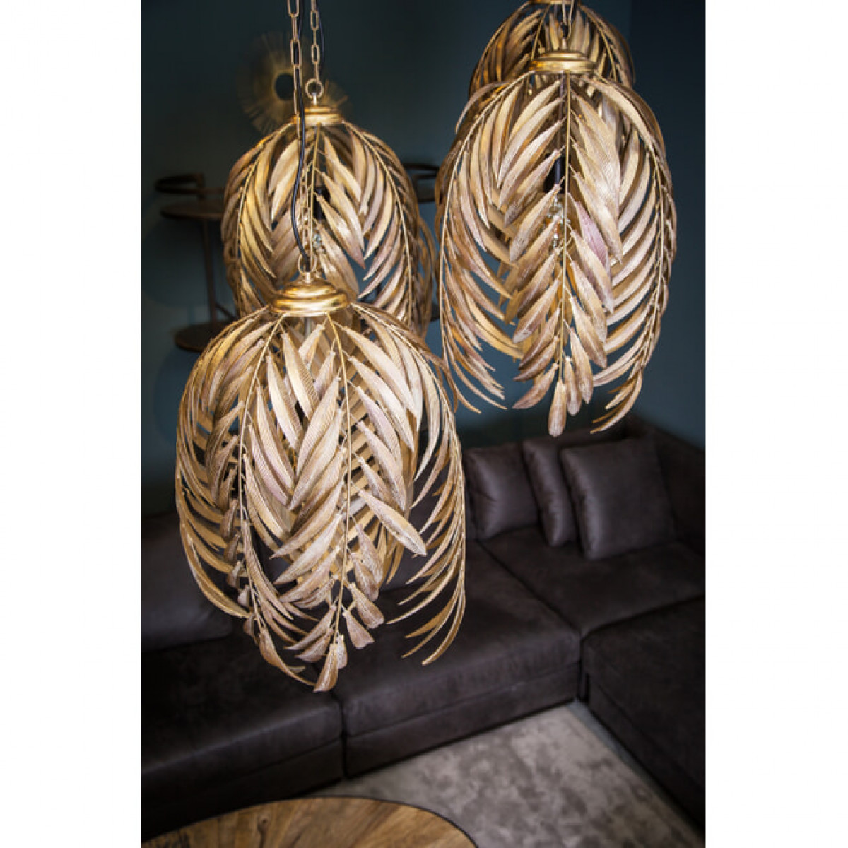 PTMD Mea large gold hanglamp palm