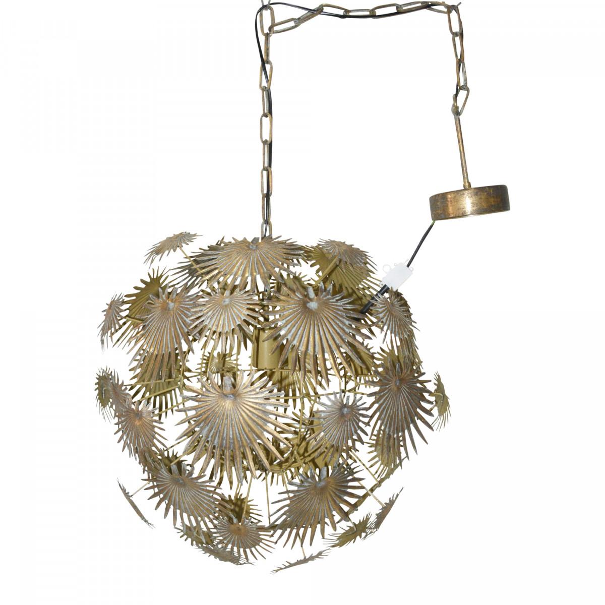 PTMD Bexley Gold hanglamp bloemen groot large hanglamp vintage industriel