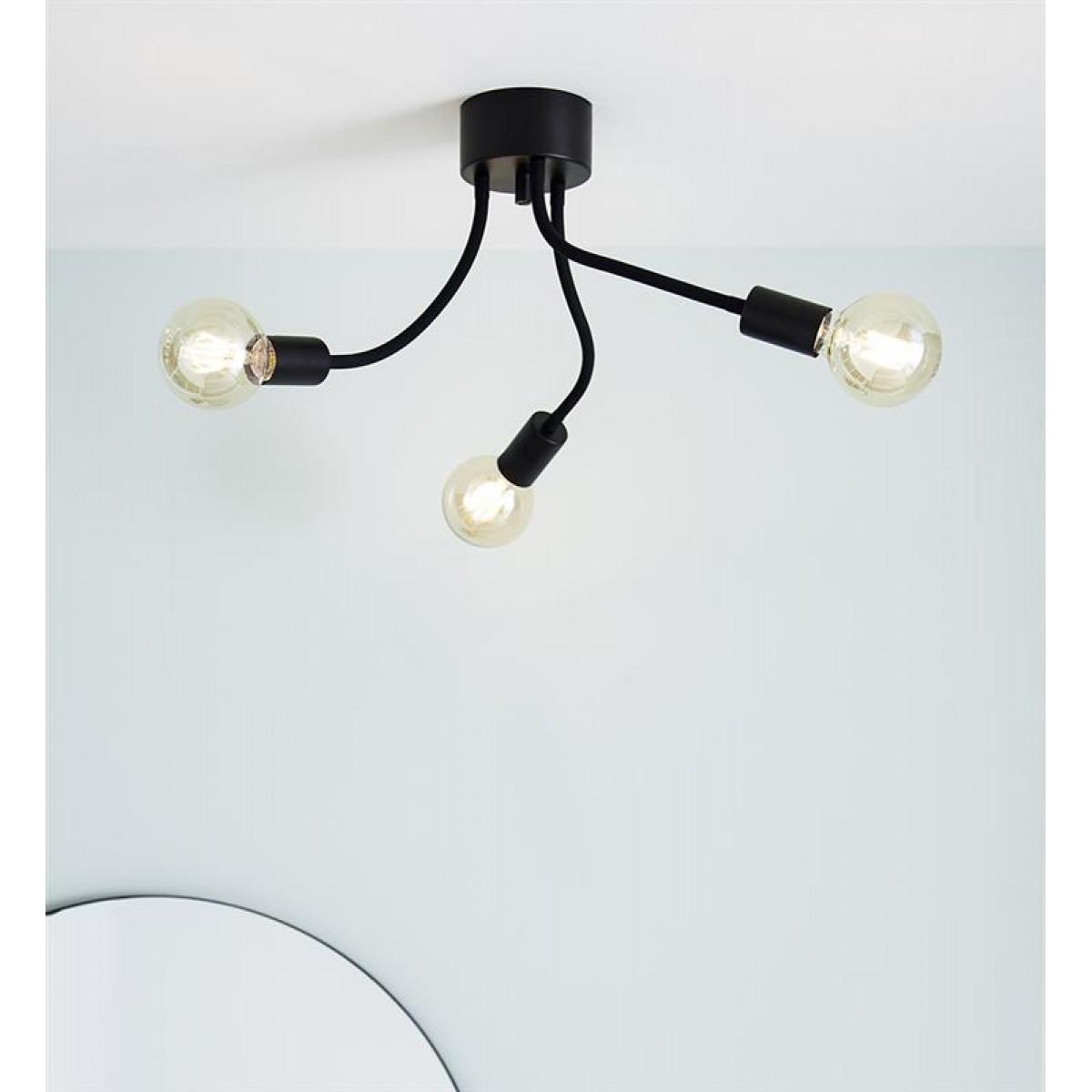 Opbouwlamp Medusa 3-lichts zwart
