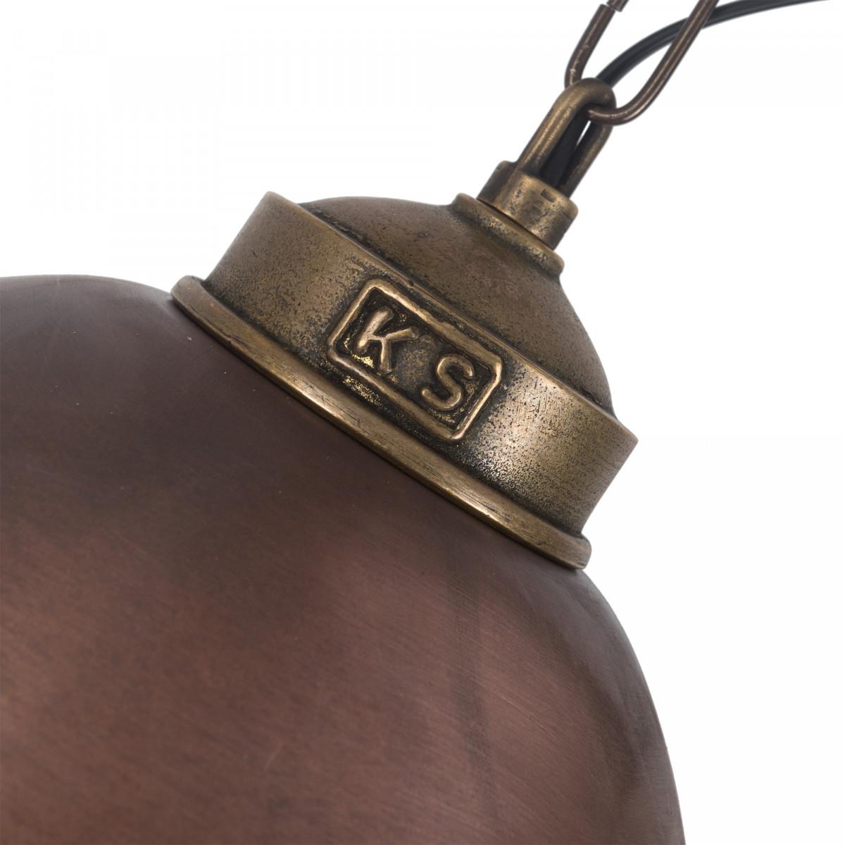 Hanglamp industrieel brons & koper