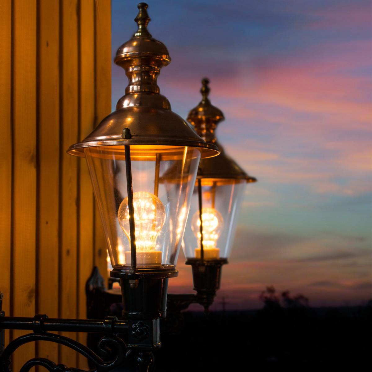Buitenlamp Edam Dag Nacht sensor LED Schemersensor