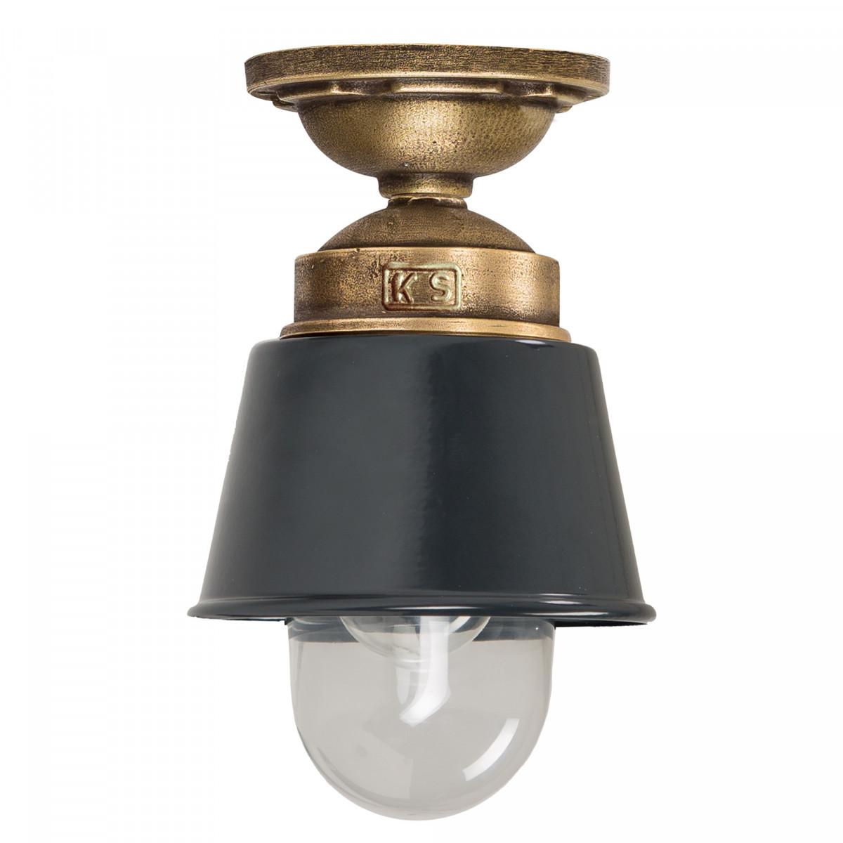 Industriele Plafondlamp Kostas brons/antraciet