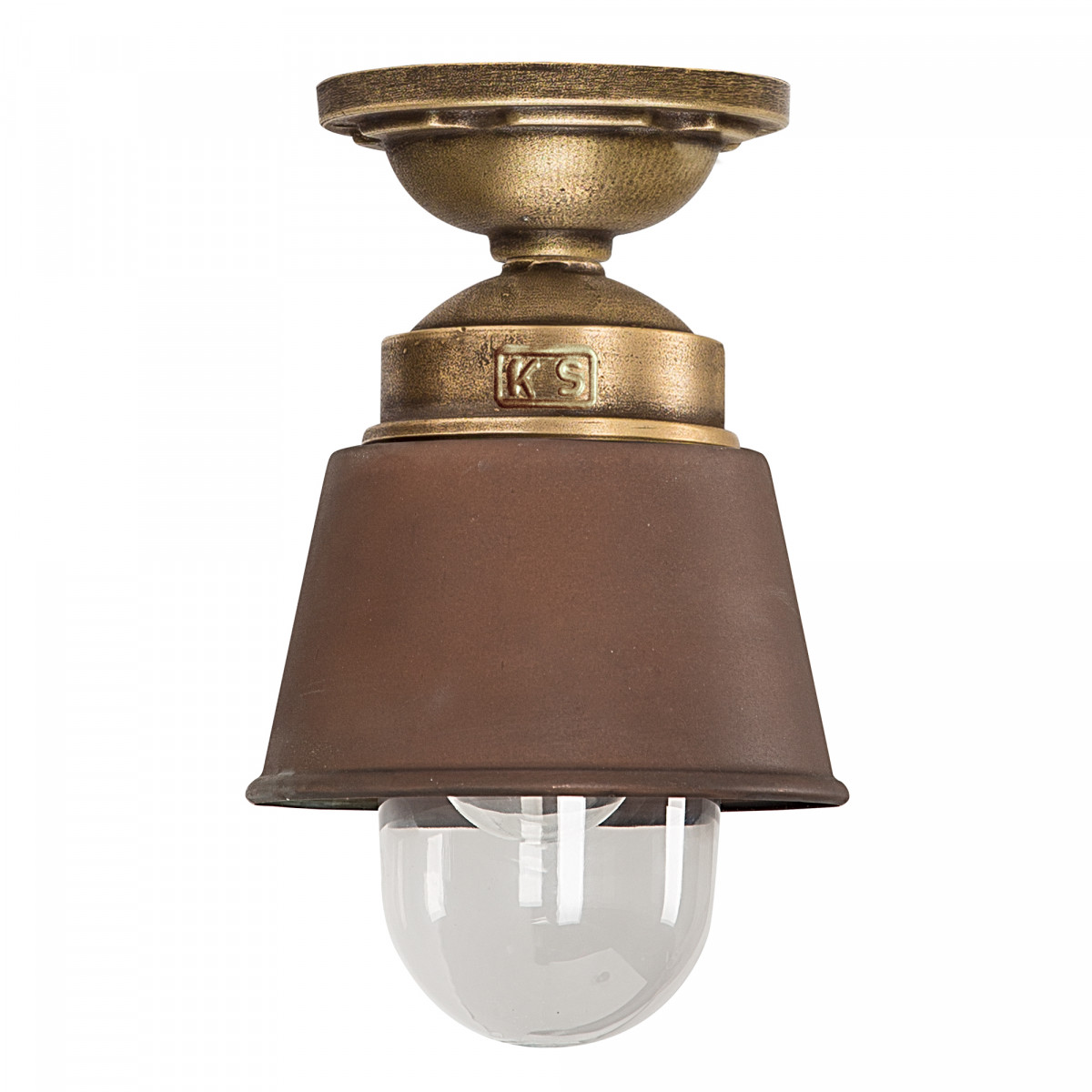 Industriele Plafondlamp Kostas brons/koper