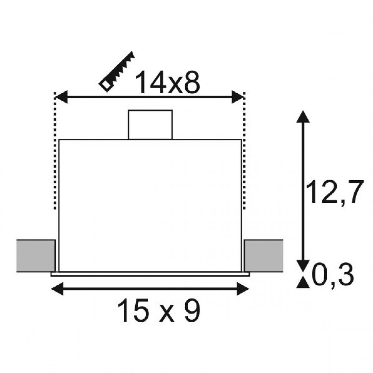 Kadux 2 Gu10 Alu Geborsteld 2xgu10