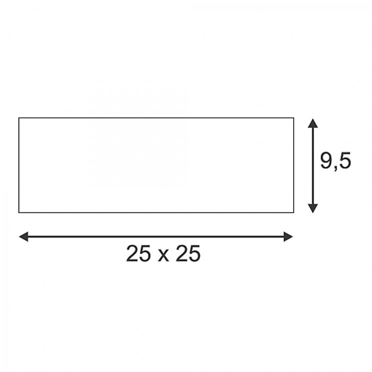 Plastra 104 E27 Wit 2xe27