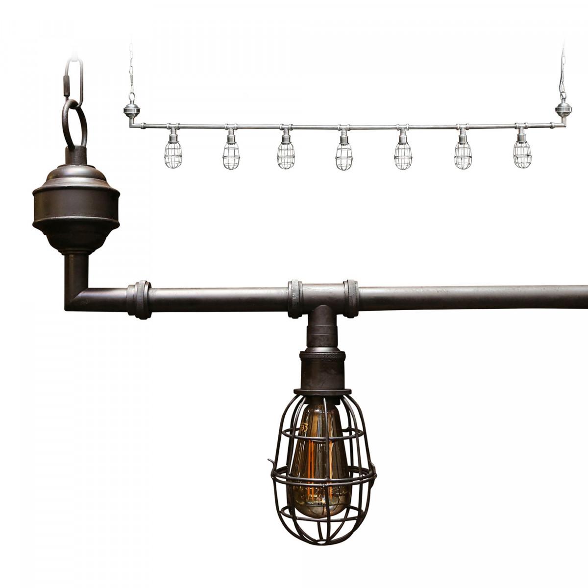 Hanglamp Sandford 7 l black