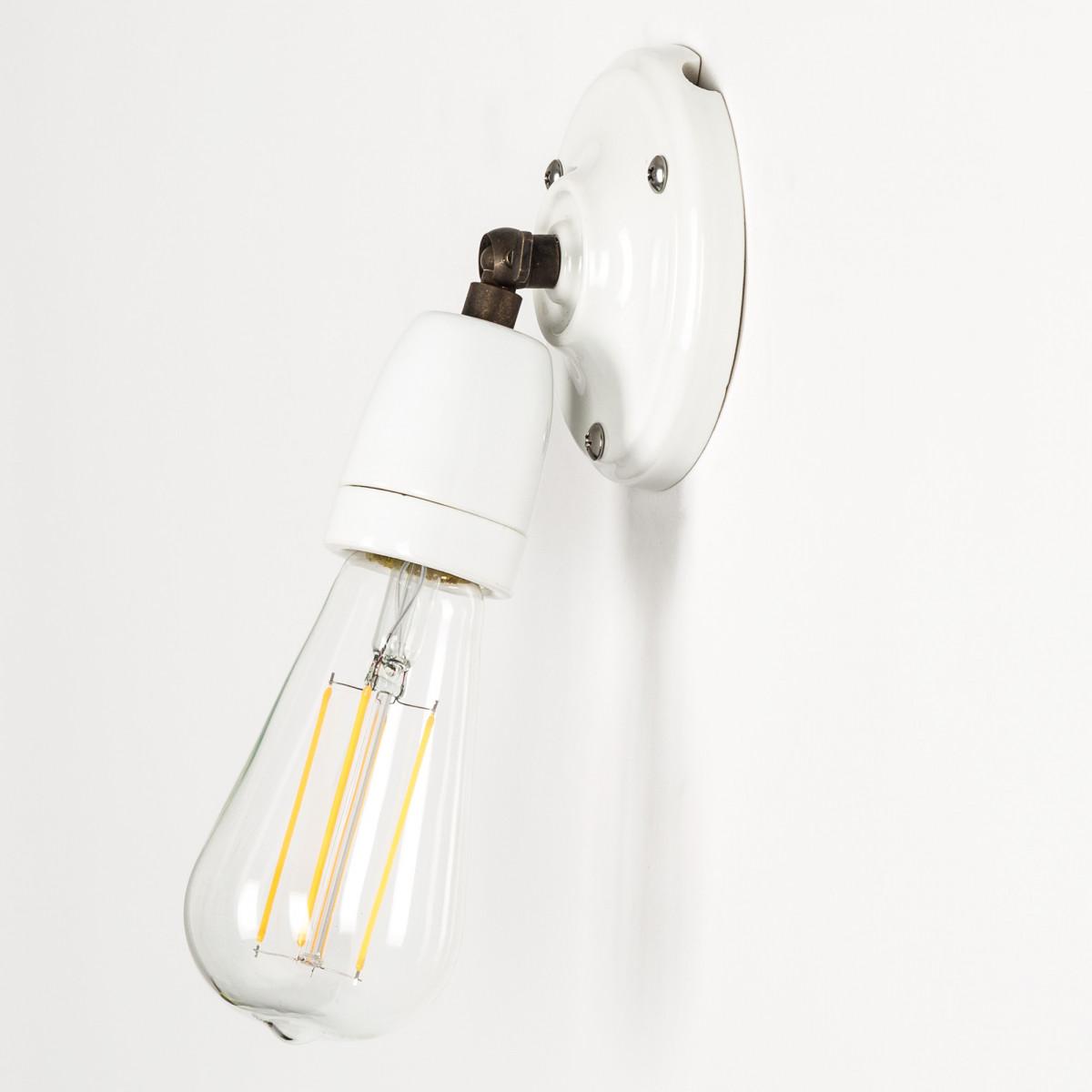 Retro wandlamp Esther wit