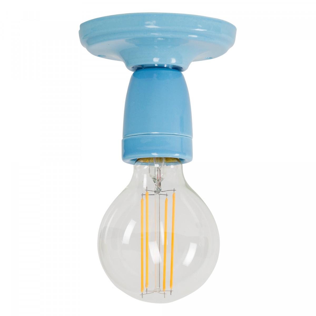 Retro plafondlamp Mir blauw