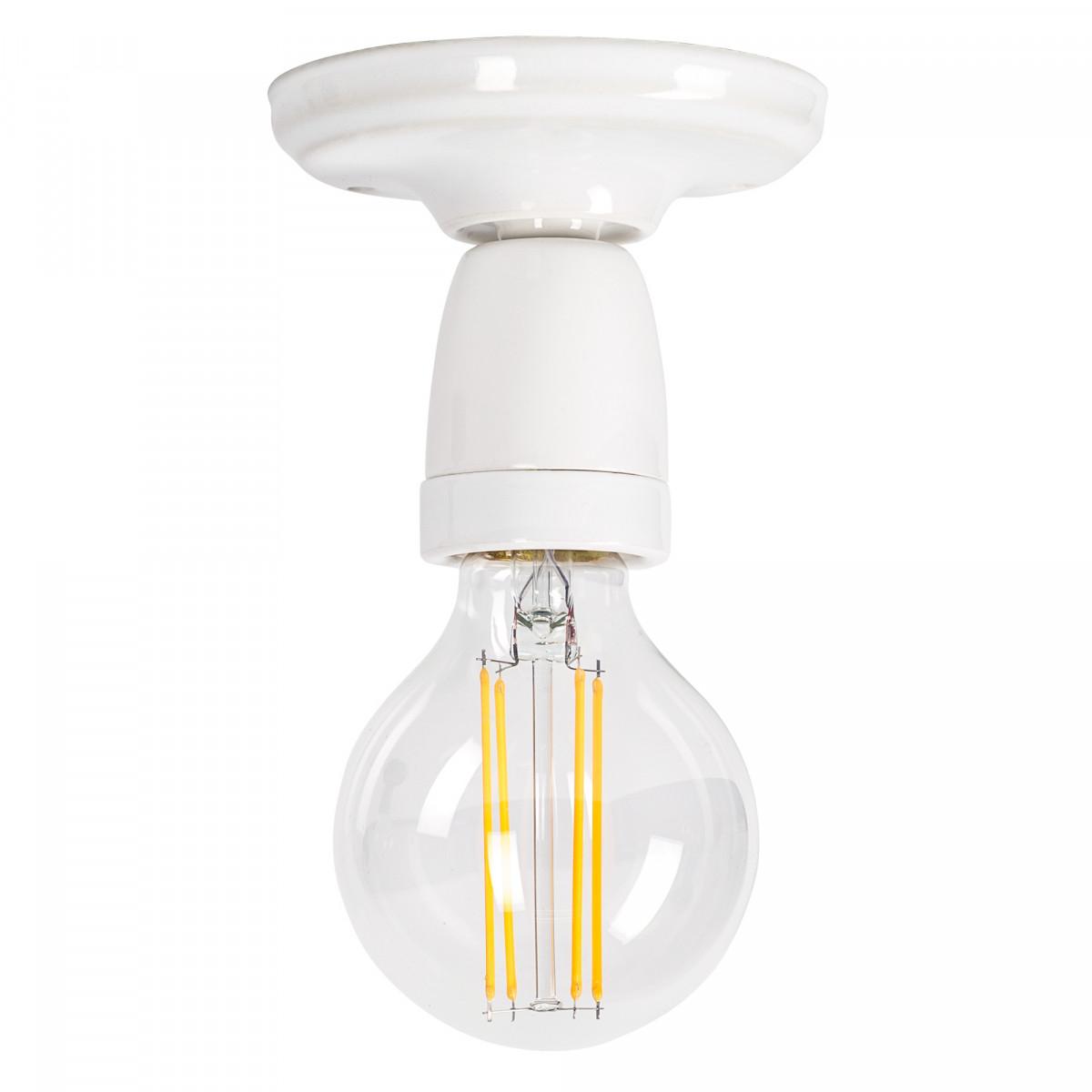 Retro plafondlamp Mir wit