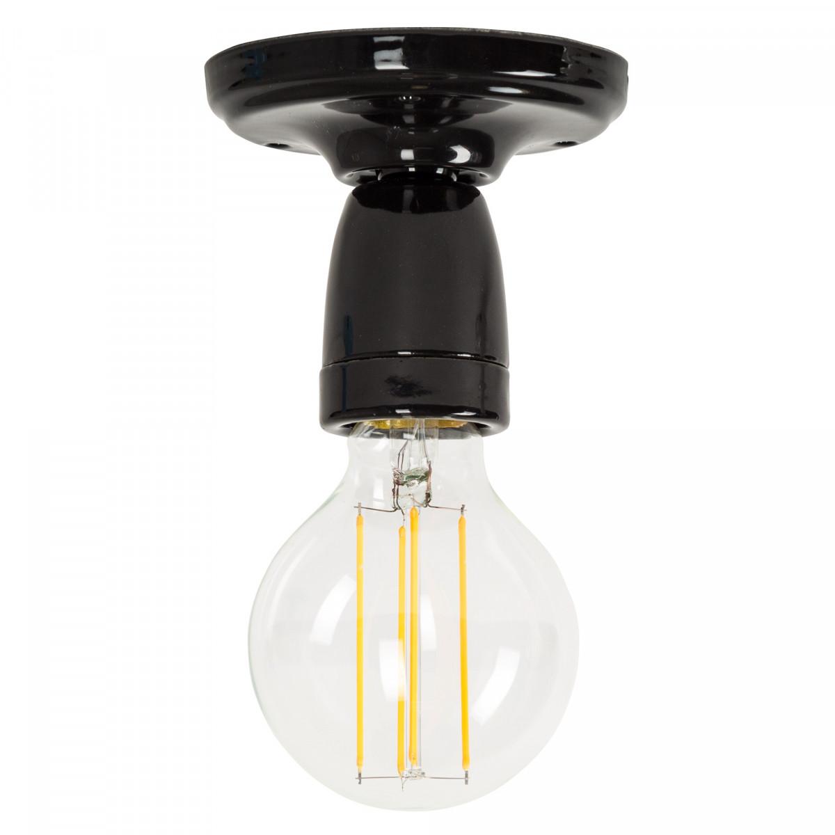 Retro plafondlamp Mir zwart