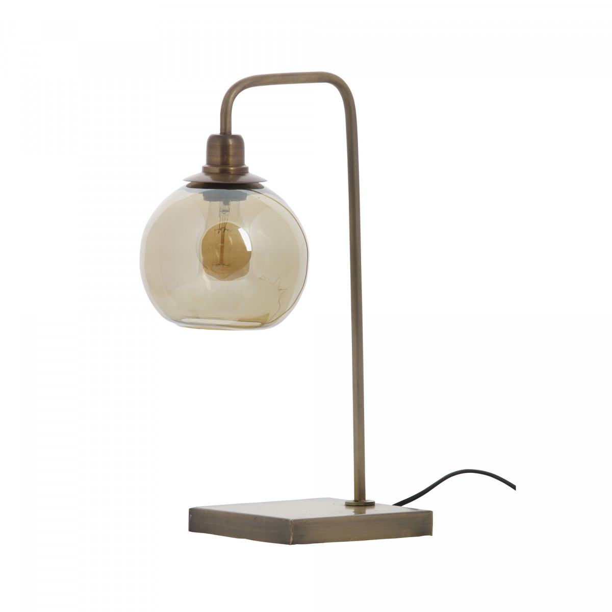 Tafellamp Lantern metaal antique brass