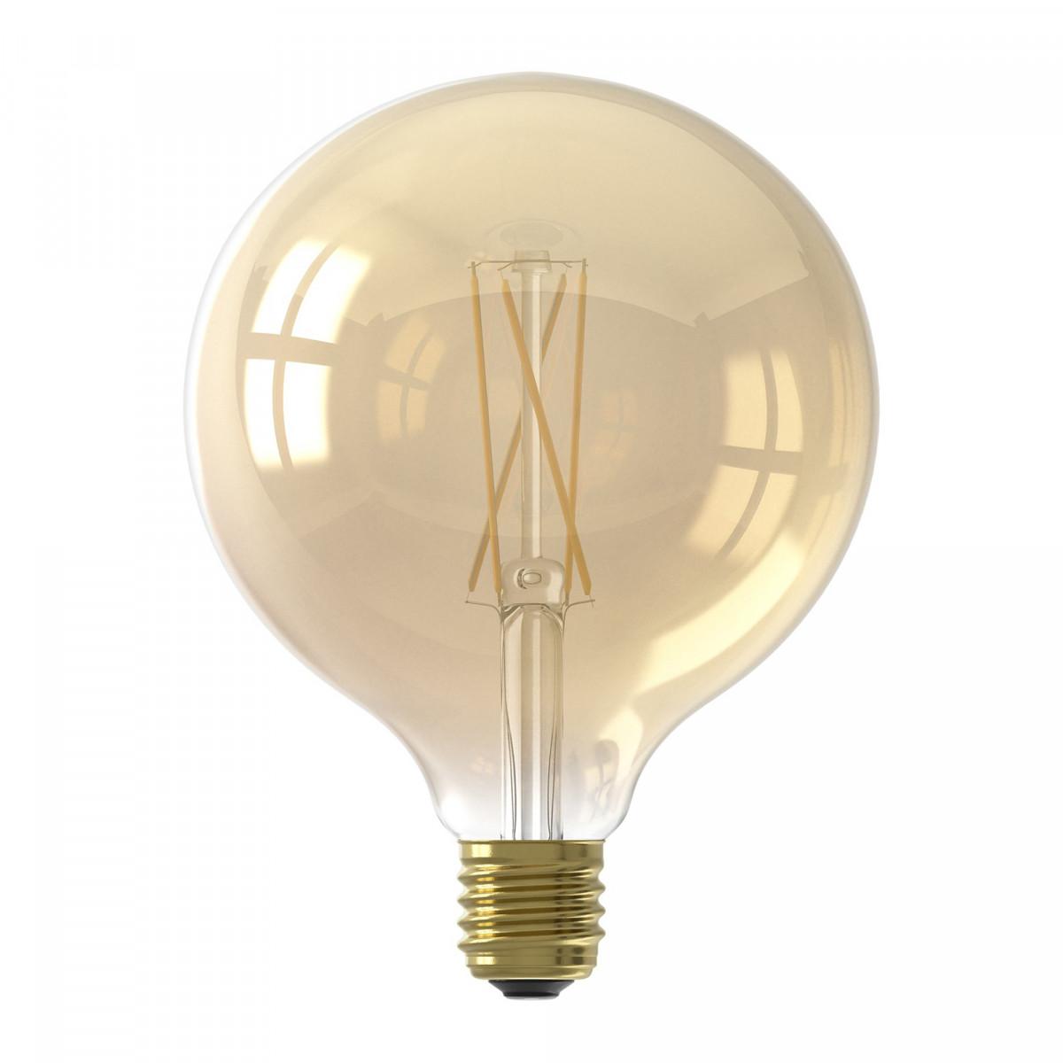 Grote LED lichtbron 6 watt dimbaar goudkleurig