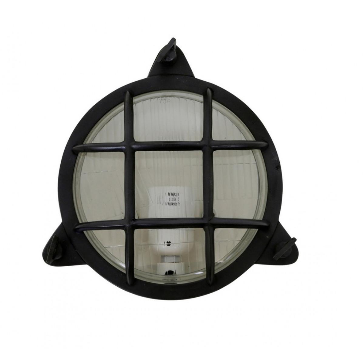 muur/plafond lamp Clipper antiek zwart