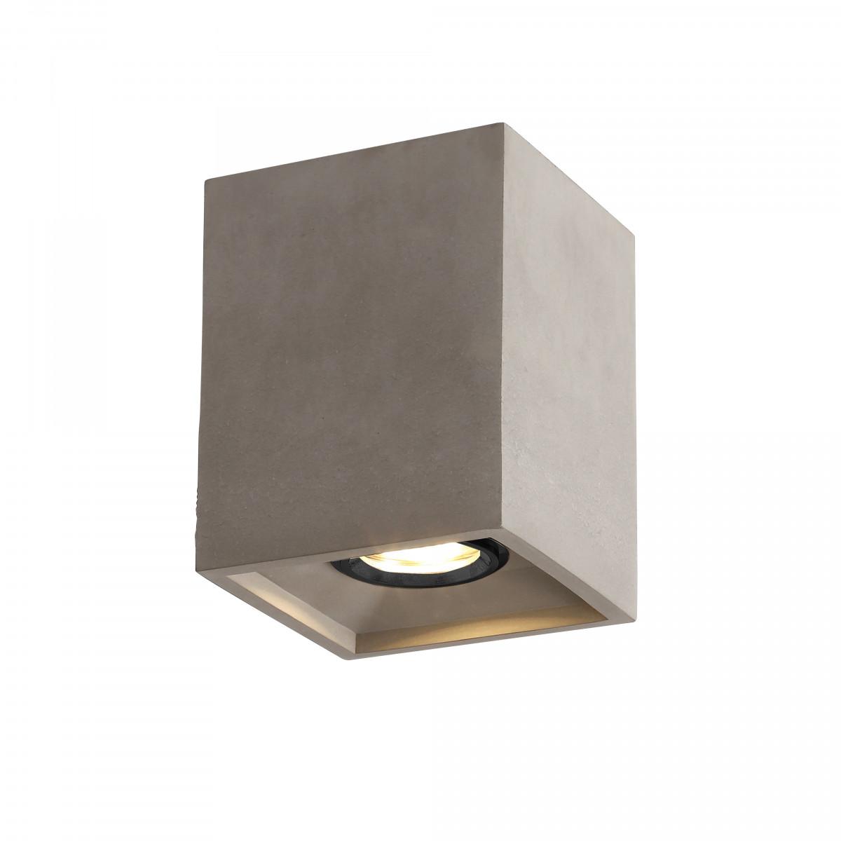 Plafondspot Bloc warm grijs modern