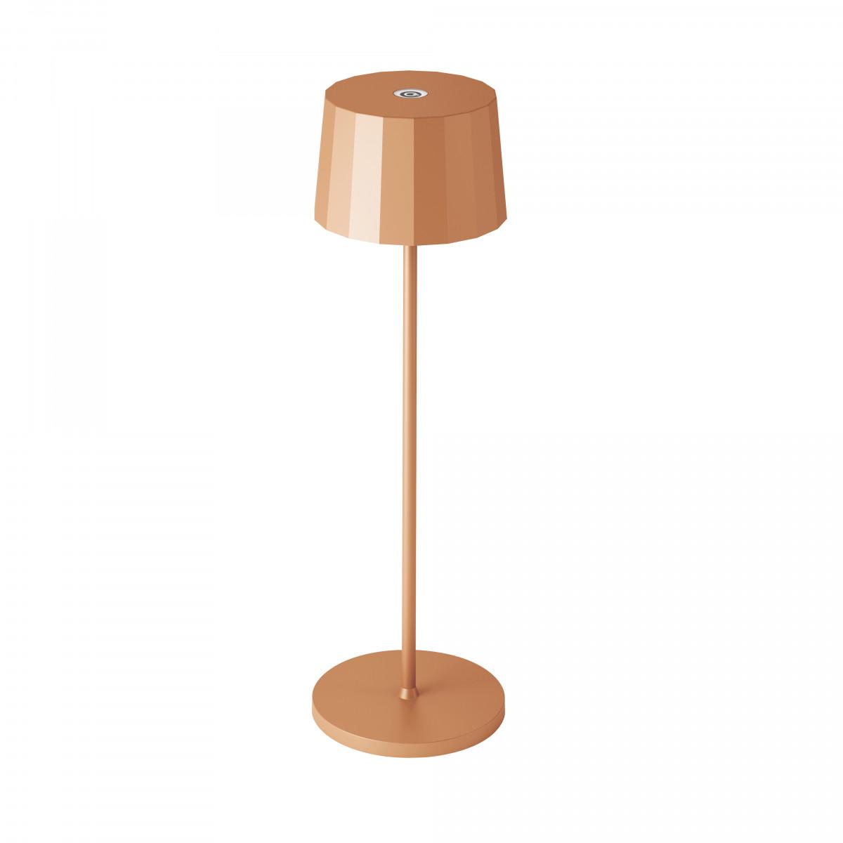 Tafellamp Lido Touch Perzik Oranje met USB