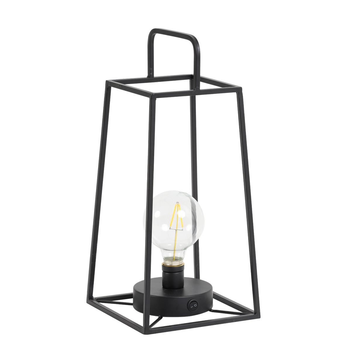 Tafellamp Fauve mat zwart met lamp