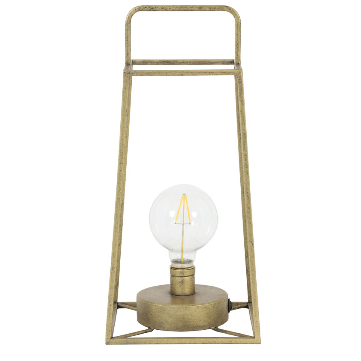Tafellamp Fauve antiek brons met lamp