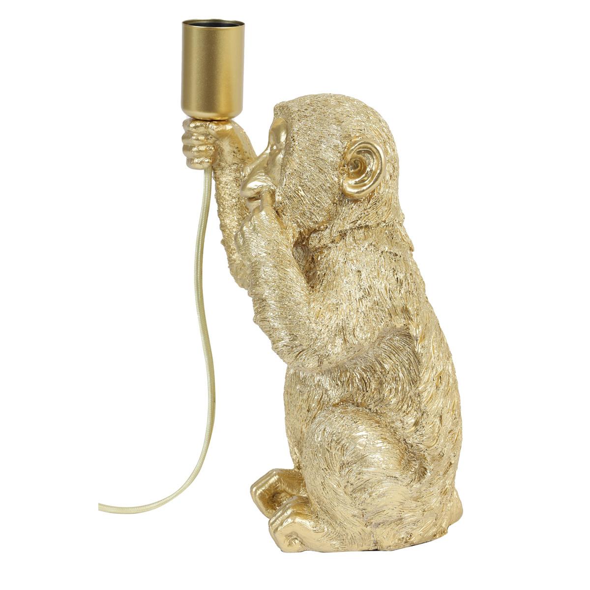 Tafellamp Monkey goud
