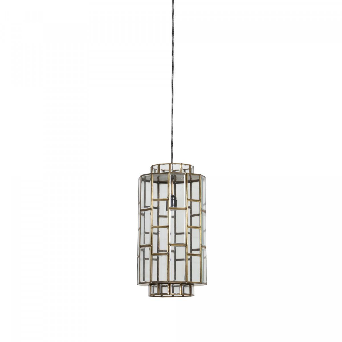 Hanglamp Sostrene antiek brons/glas