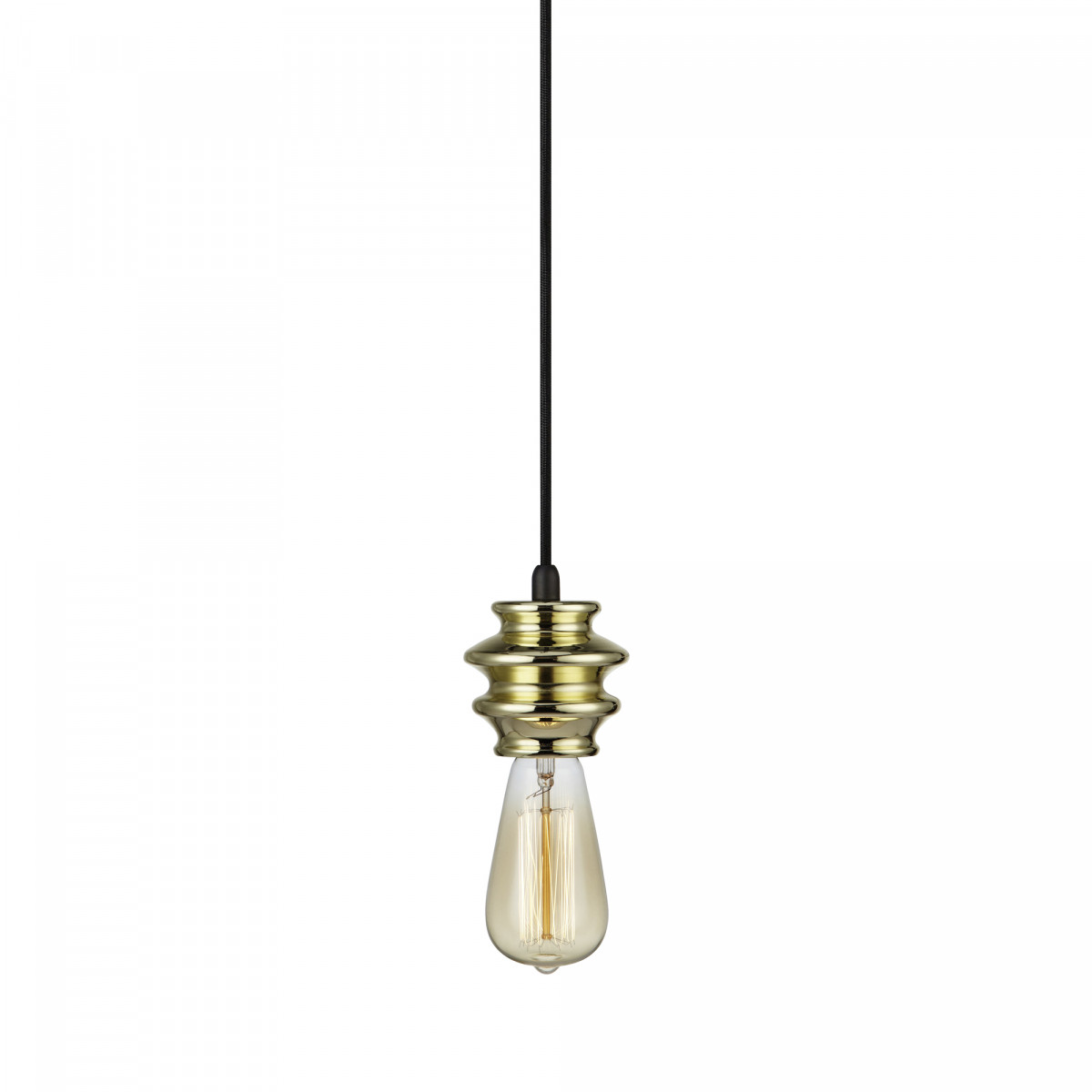 Hanglamp Fab 1-lichts messing