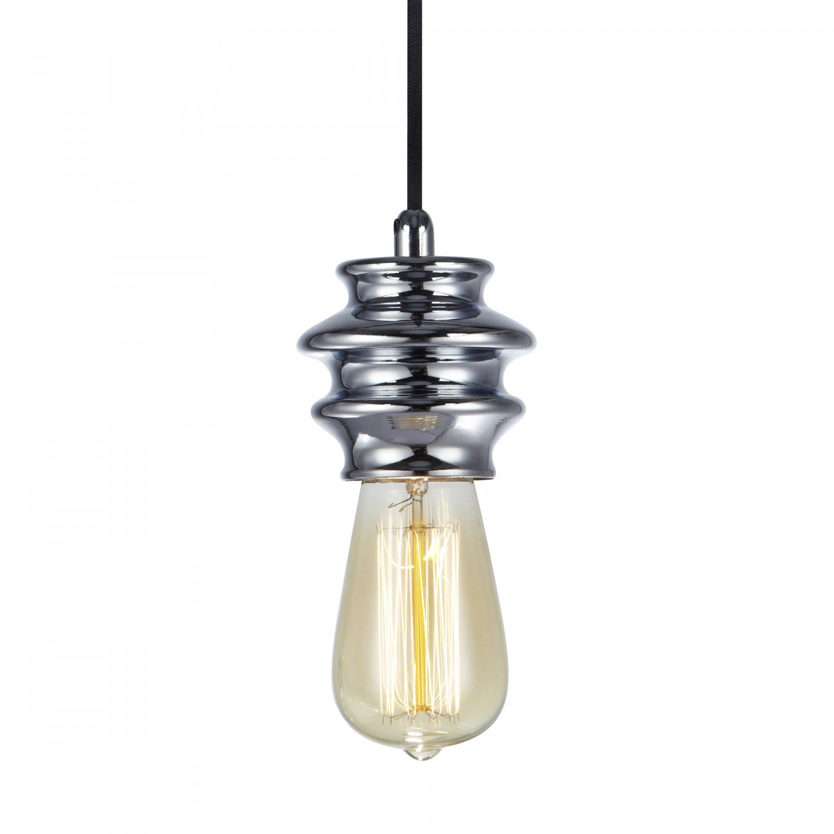 Hanglamp Fab 1-lichts chroom
