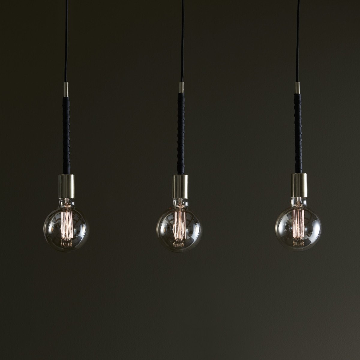 Hanglamp Saddle Straight 3-lichts messing