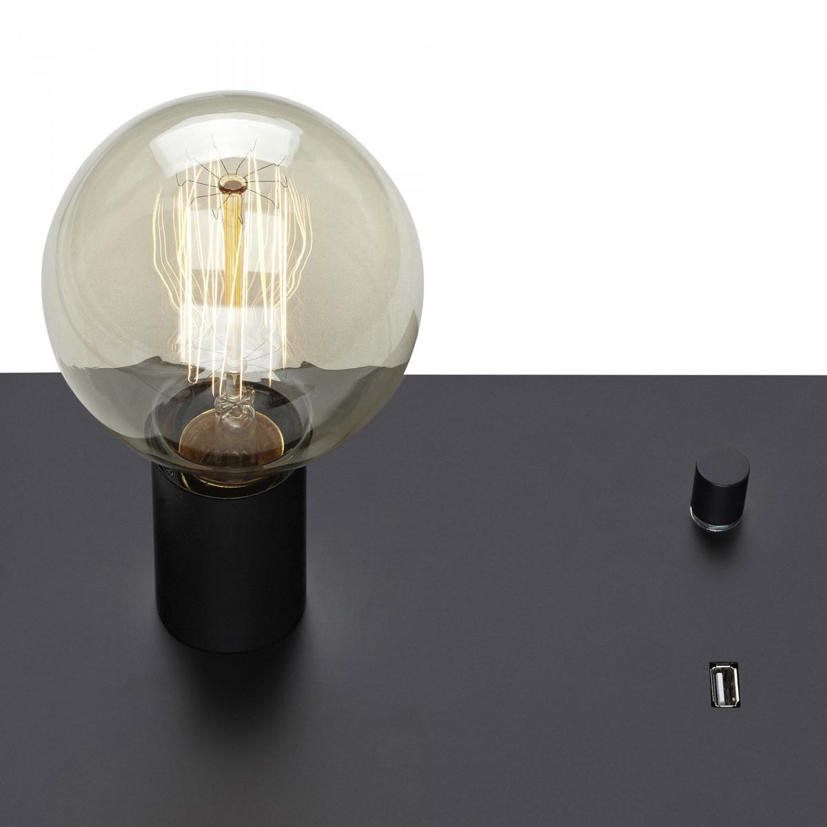 Tafellamp/Wandlamp Load met USB oplaadstation