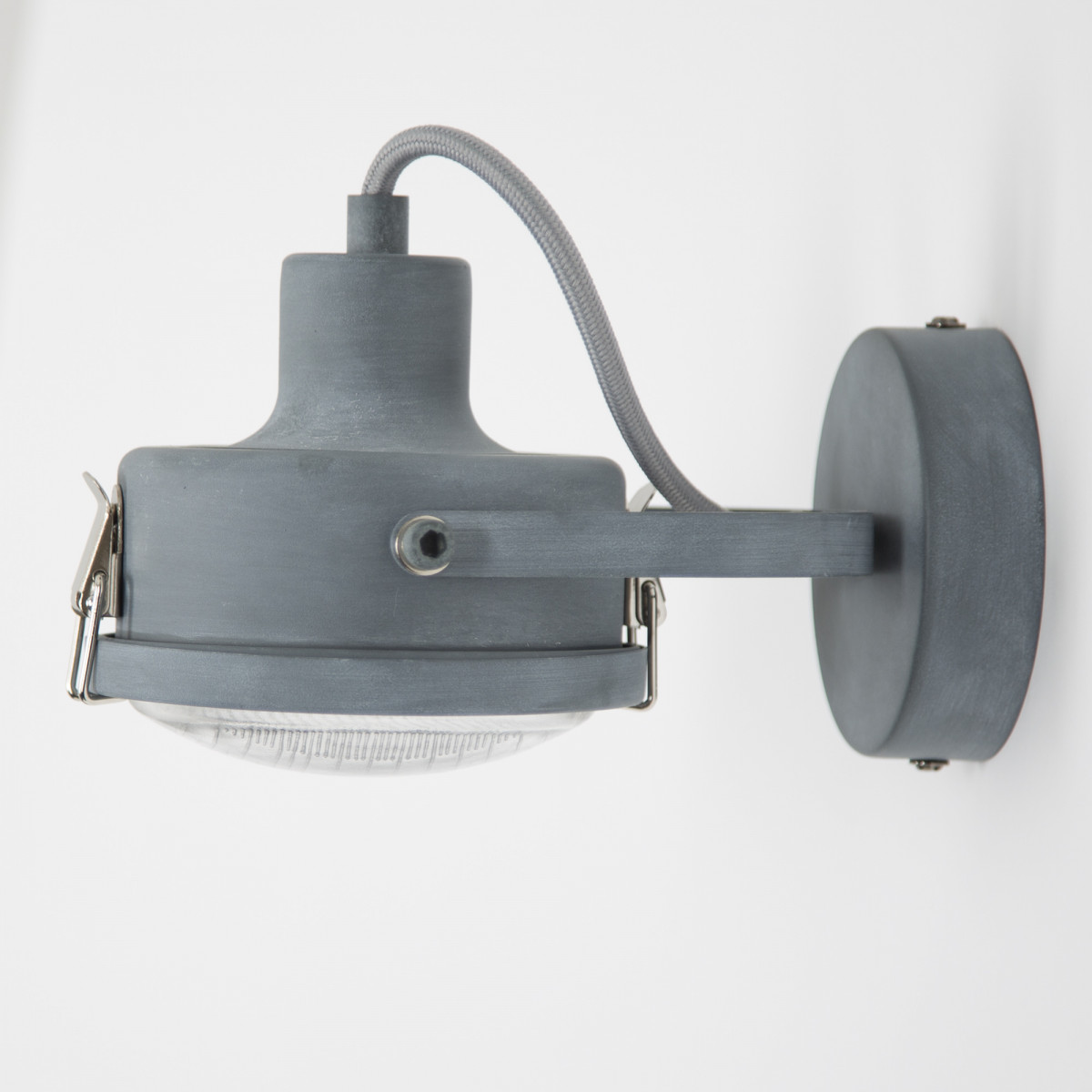 wandlampen industrieel - opbouwspot Satellite 1 grijs of zwart - industriele lamp - spots - Nostalux