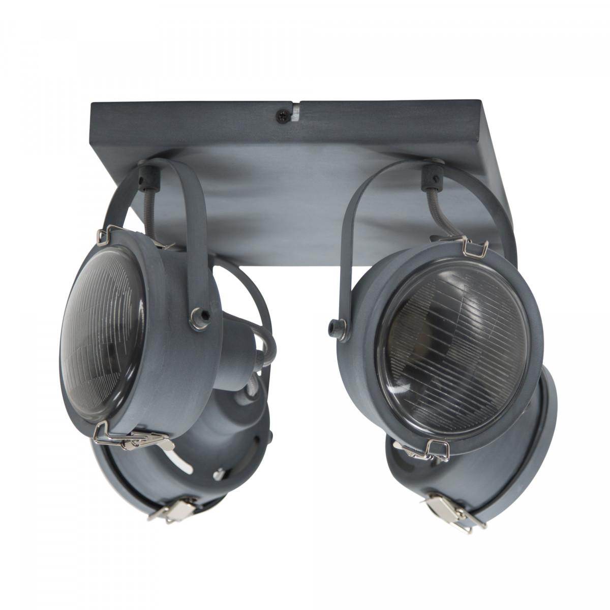 lampen industrieel - opbouwspot Satellite 4 grijs - industriele spots - Nostalux