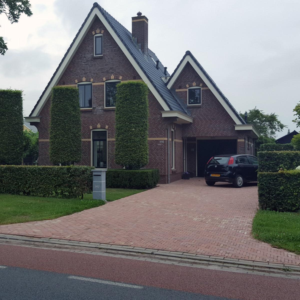 Hardsteen Pilaar & Brievenbus 4 SET