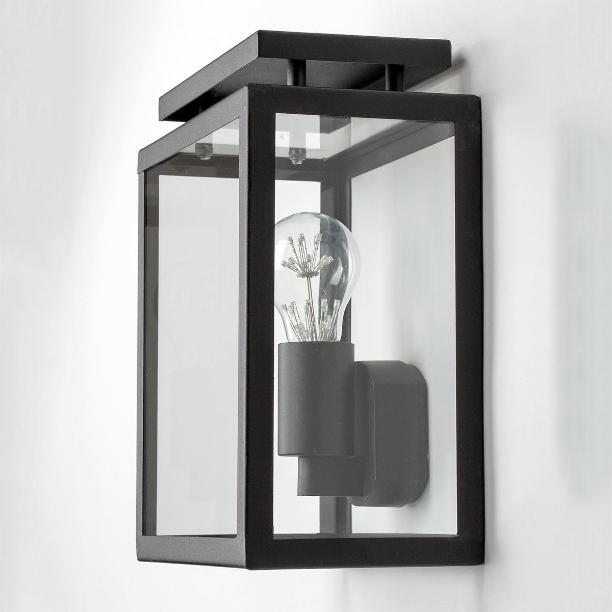 Wandlamp voor buiten De Vecht plat zwart