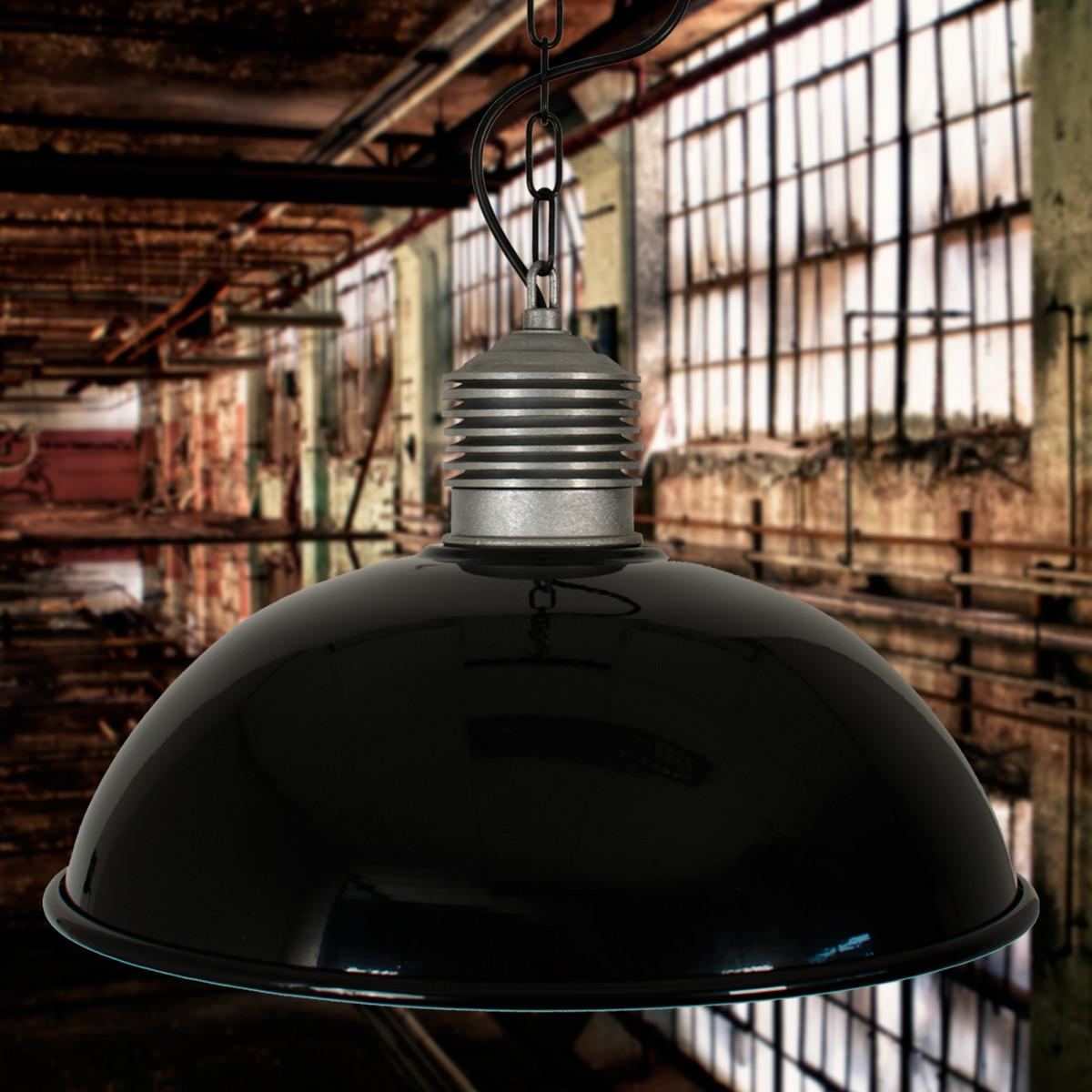 Industriele Hanglamp Zwart