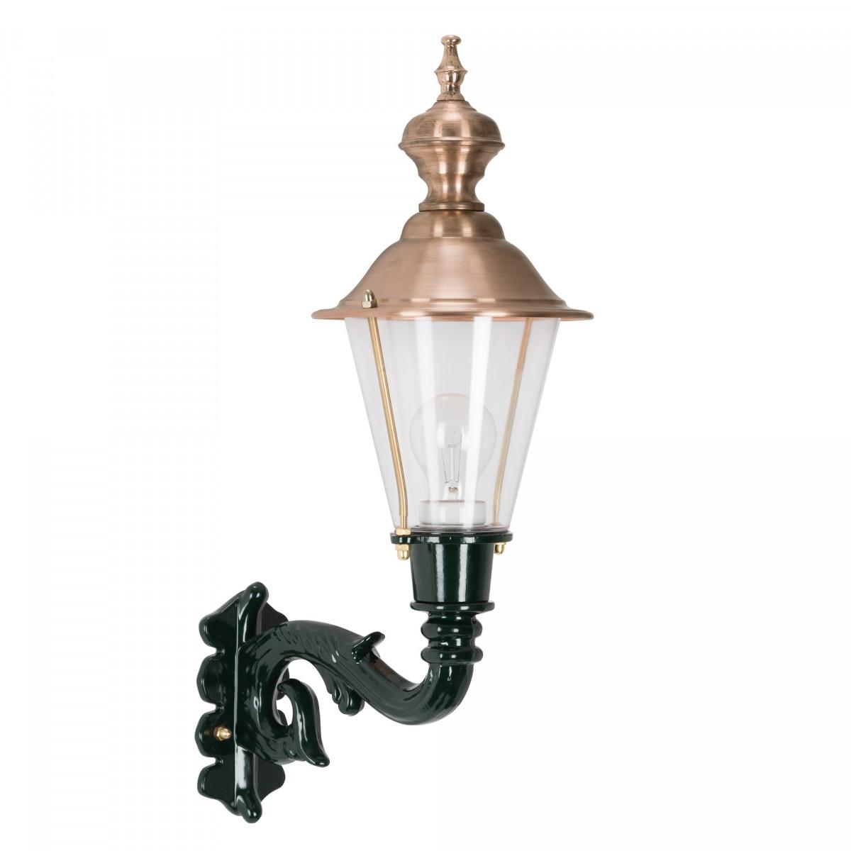 buitenverlichting landelijk - Klassieke buitenlamp  KS Hoorn staand M groen - rond koper