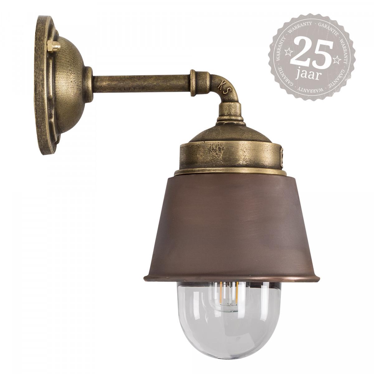 Industriële wandlamp Kostas 90 brons/koper