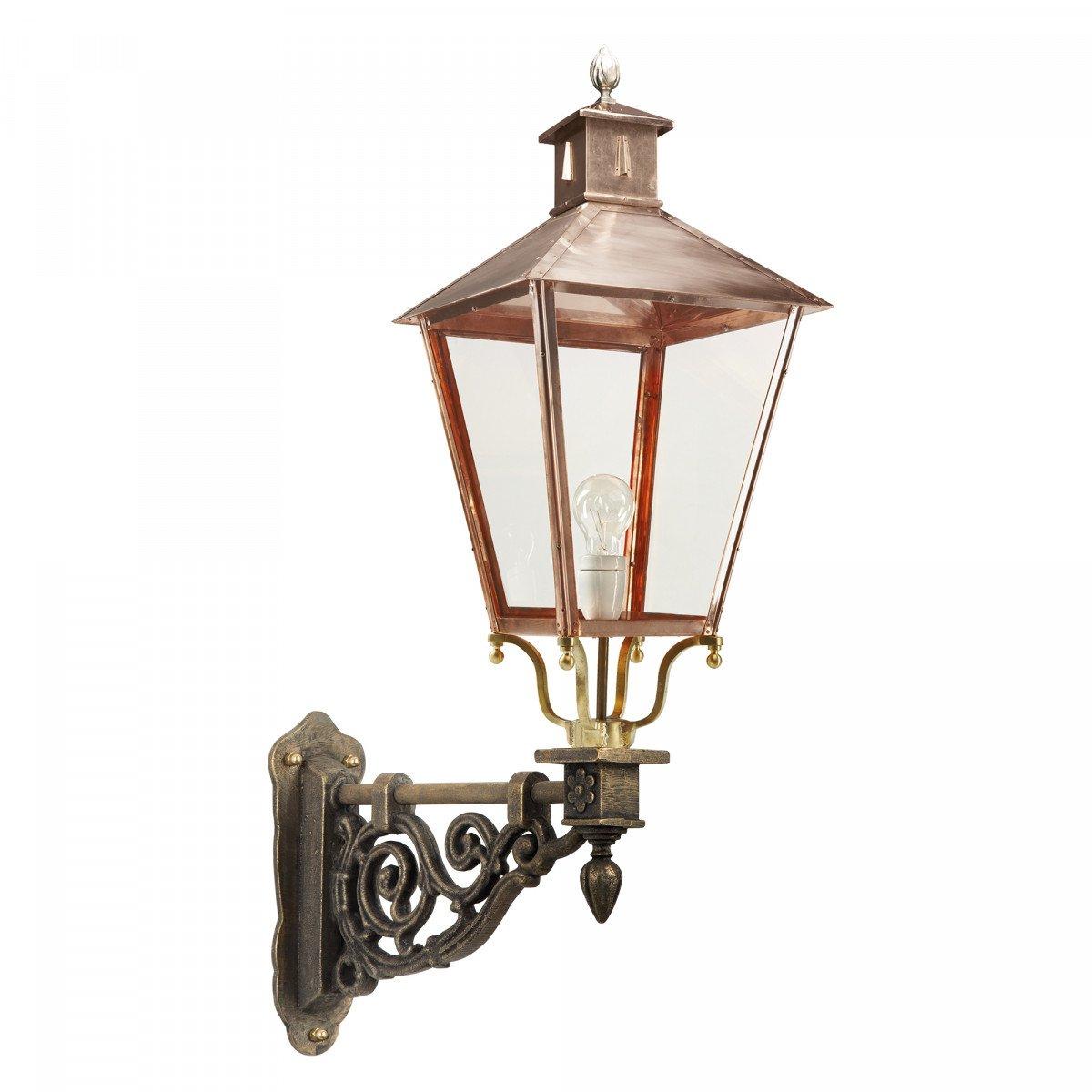 Muurlamp Brons