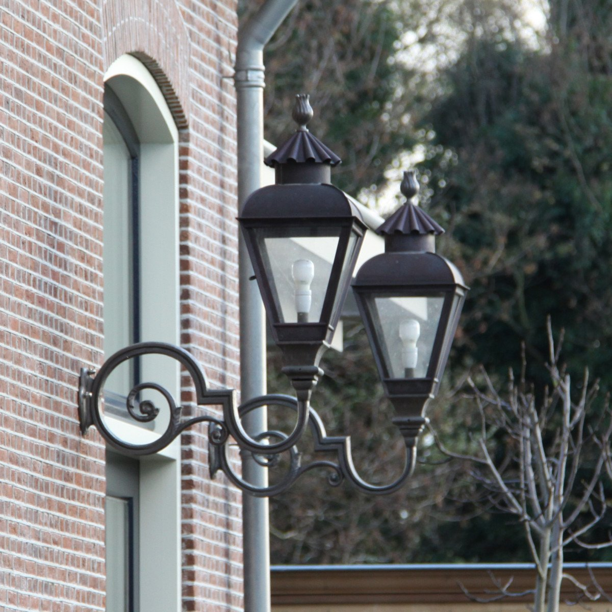 J. v.d. Heijden incl. steun Brons (1470) - KS Verlichting - Buitenverlichting Vierkant