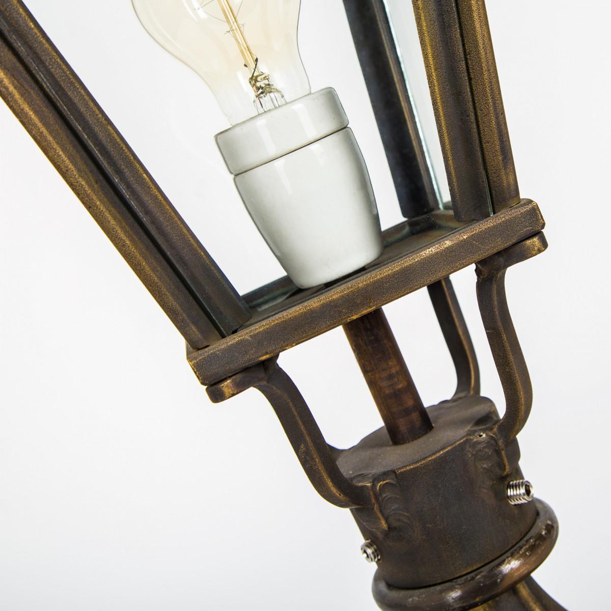 Klassieke bronzen tuinlamp Halle sokkel S