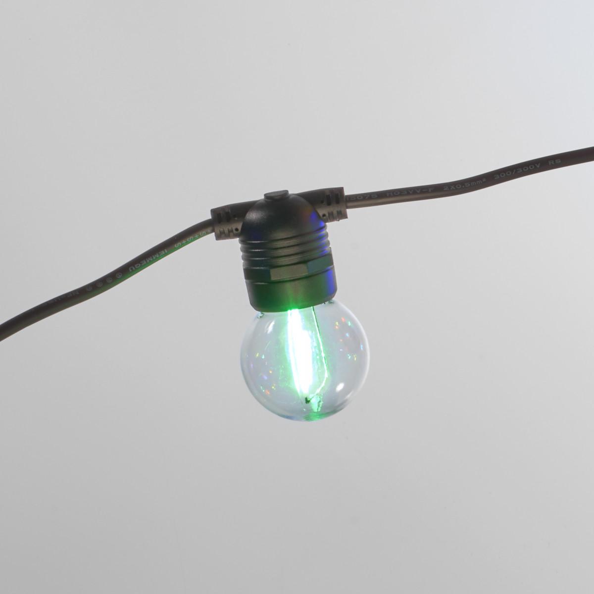 Lichtsnoer LED Party kleur 10 meter / 15 Bolletjes