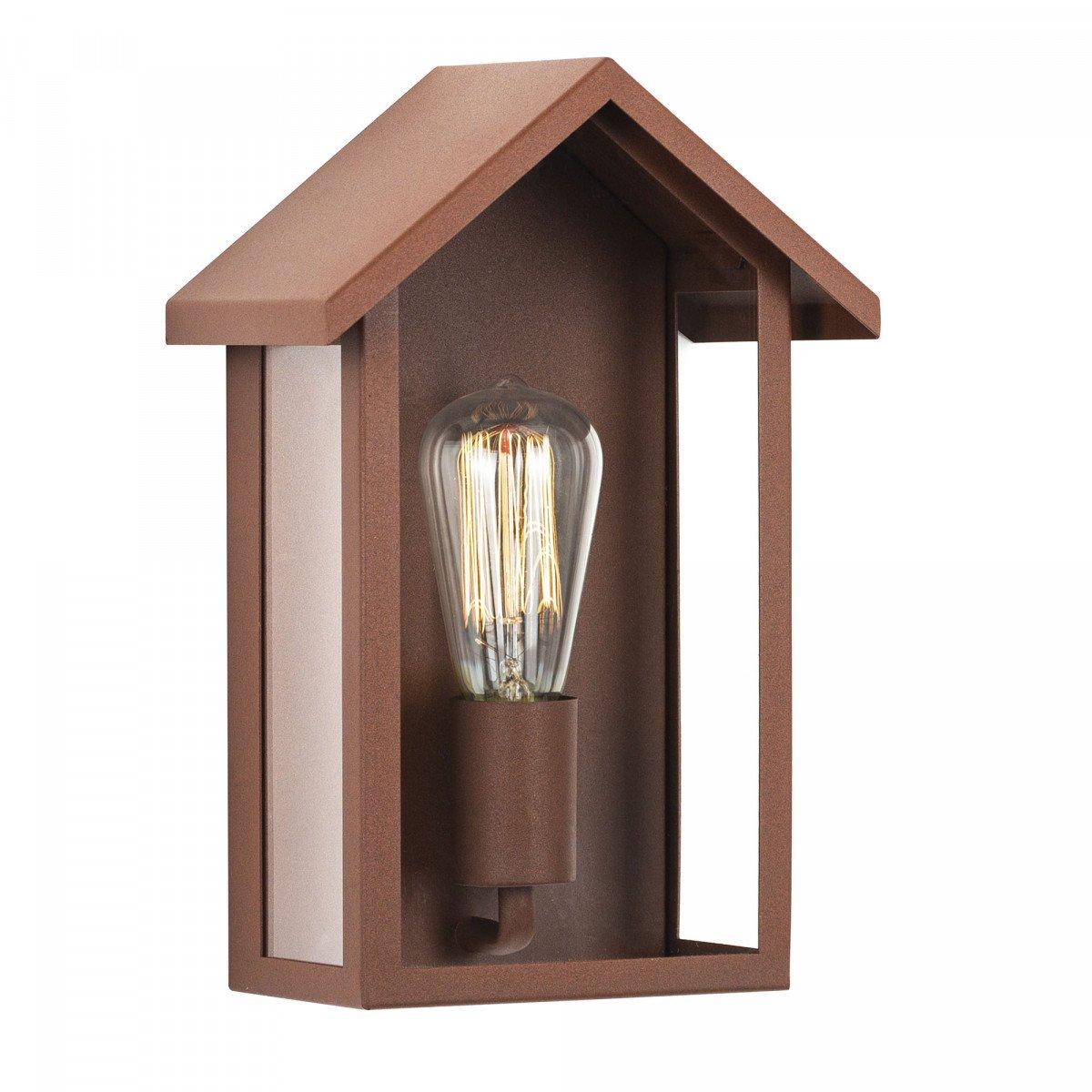 Design verlichting voor buiten aan de wand, bevestiging vlak aan de muur, lichtbron is zichtbaar, huis model, home design verlichting