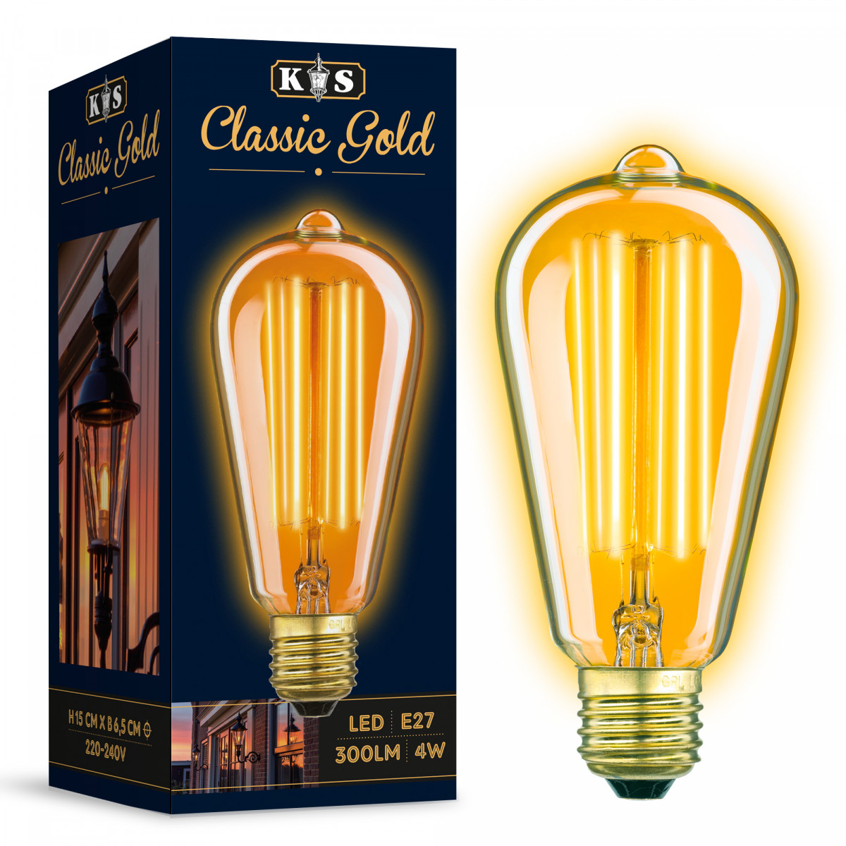 LED Kooldraadlamp Edison 4 watt