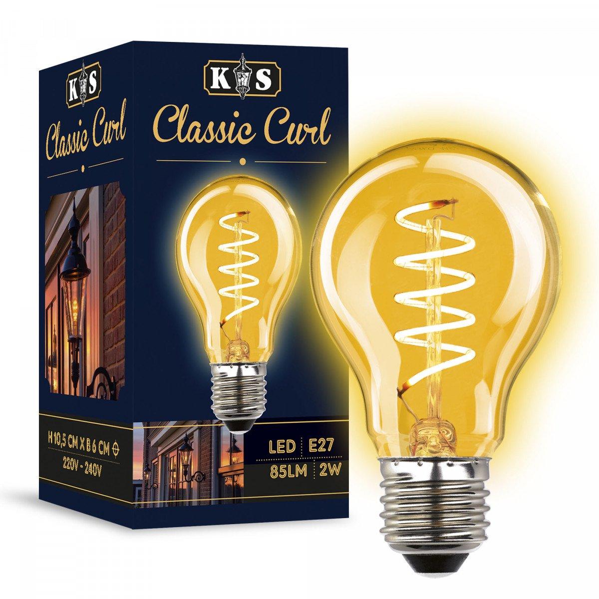 Ledlamp KS Classic Curl- 2 Watt - 85 Lumen