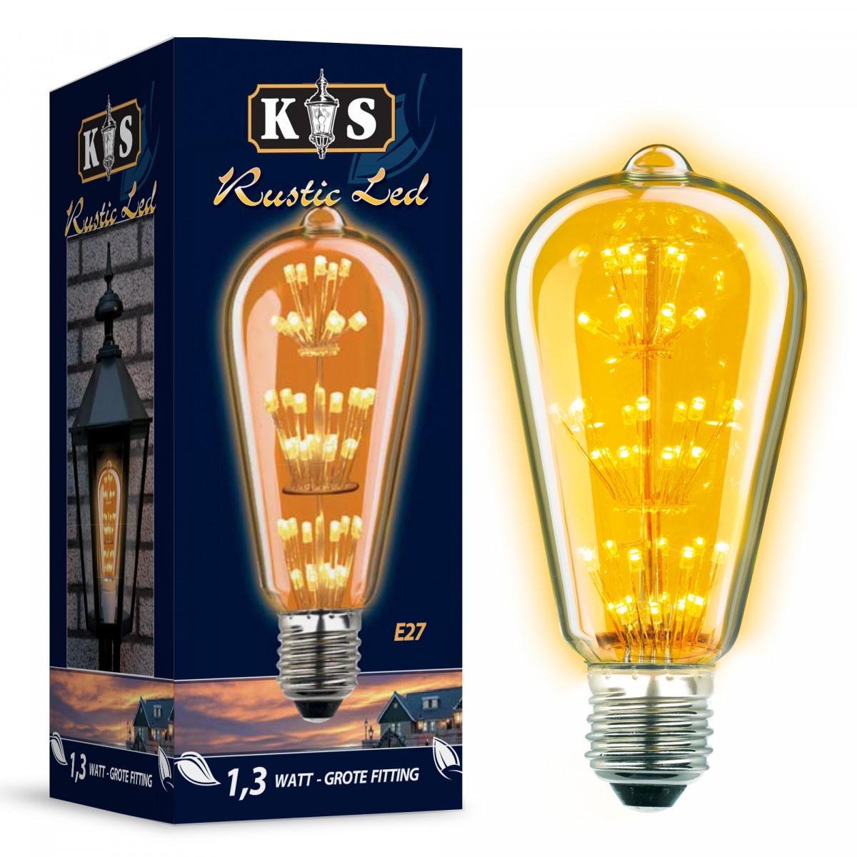 ledlamp lichtbron E27 - rustic led lamp 5882 - led buitenlamp