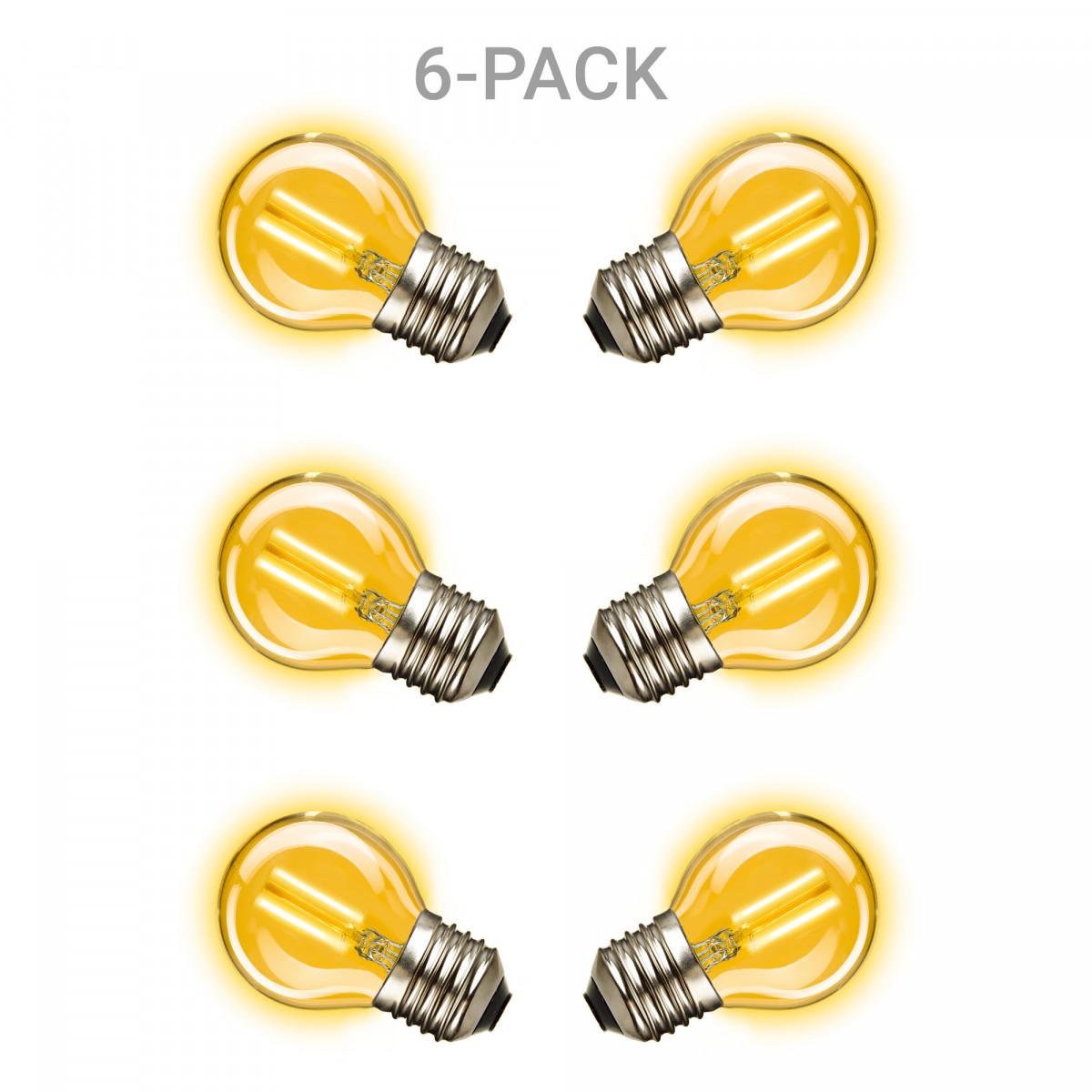 6-pack Mini Gold Ledlamp E27