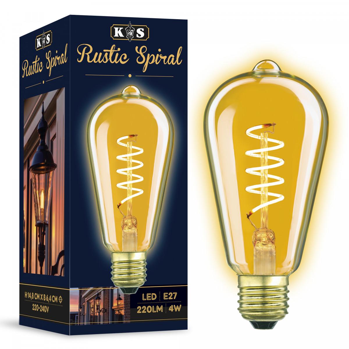Ledlamp Rustic Spiral - 4 Watt - 220 Lumen