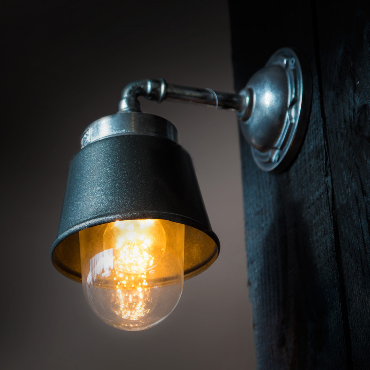 Wandlamp industrieel Antraciet