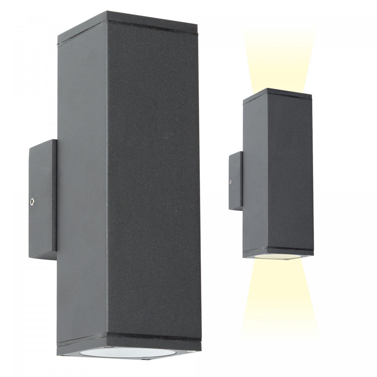 Wandspot Kelvin Up en Down buitenverlichting, moderne wandverlichting van het merk KS Verlichting, hoge kwaliteit, lage prijs, aluminium wandspot met antraciet finish
