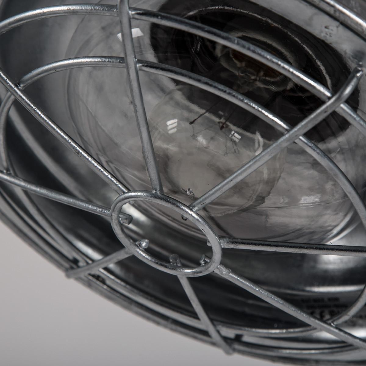 industrieel vormgegeven buitenlamp, type stallamp, de petrol buitenlamp is vervaardigd van verzinkt staal, mooie buitenverlichting van KS Verlichting